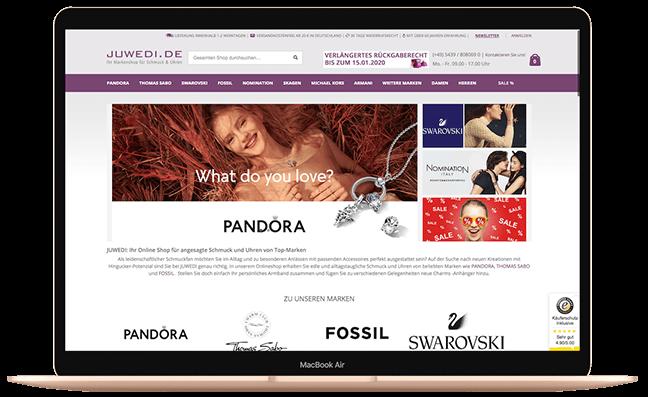 Im juwedi.de Onlineshop steht Ihnen eine vielseitige und hochwertige Auswahl von Markenschmuck und Uhren zur Verfügung