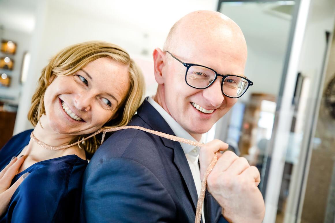 Lena und Peter Kreuzkamp führen das Juweliergeschäft gemeinsam