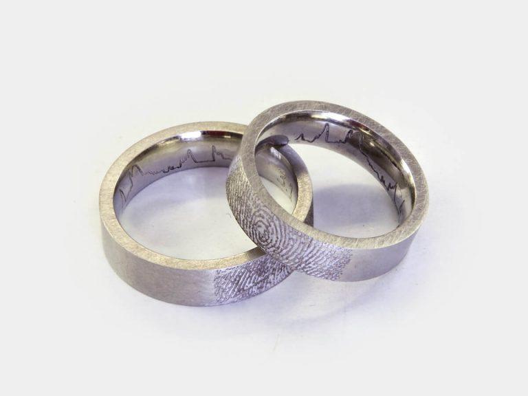 Eheringe Trauringe Verlobungsringe veredelt mit einer individuellen und extravaganten Gravur