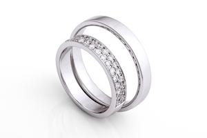 Partnerringe in Silber zu Verlobung