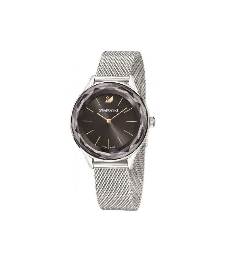 Swarovski Damenuhr Octea Nova , Milanaise-Armband, schwarz, silberfarben