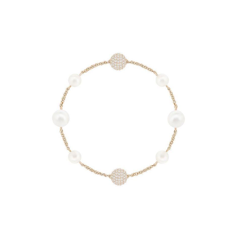 "Swarovski REMIX ""White Crystal Pearl"" weiß rosé Vergoldung Kristallperle"
